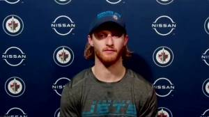 RAW: Kyle Connor speaks after loss to Leafs (04:19)