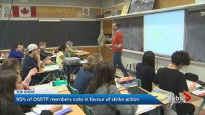 Ontario high school teachers in favour of strike