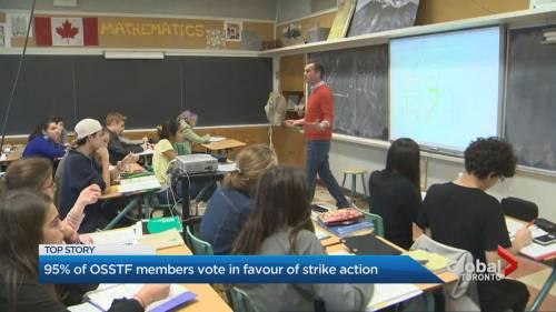 Ontario high school teachers in favour of strike | Watch News Videos Online - Globalnews.ca