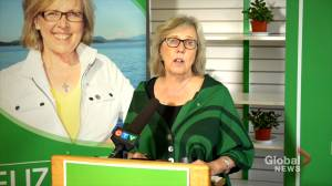 Federal Election 2019: Elizabeth May says Greens won't provide confidence to any government without climate target (01:57)