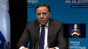 Coronavirus: Quebec premier urges feds to ban non-essential international flights (02:26)