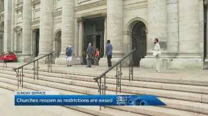 Churches across Quebec opening for first time since March