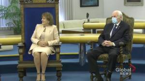 Alberta premier welcomes new cabinet ministers, thanks outgoing lieutenant-governor (03:04)