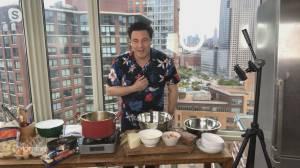 Chef Rocco Dispirito's 4 ingredient spaghetti carbonara recipe (07:33)