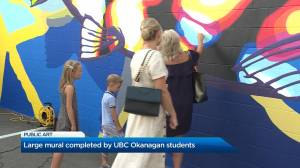 Large mural in Kelowna completed by UBC Okanagan students