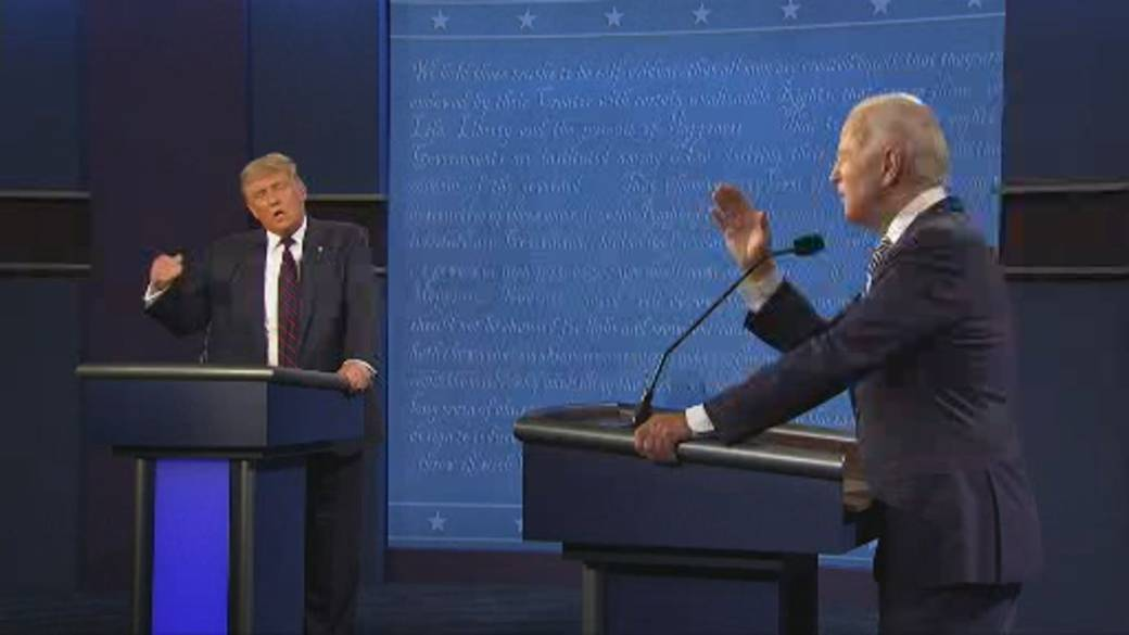 Click to play video 'US Presidential debate: Biden tells Trump to 'shut up!' after multiple interruptions'