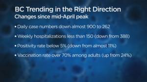 A look at B.C.'s overall COVID-19 numbers heading into June (02:52)