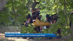 Firefighters rescue man from Scarborough Bluffs