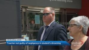 Toronto high school teacher found not guilty of negligence in student's drowning (02:13)