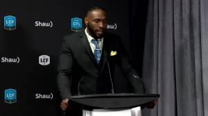 RAW: Blue Bombers Willie Jefferson Wins CFL Award