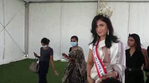 Sri Lanka beauty queen reinstated as winner after Mrs. World stripped her of crown on stage (01:18)