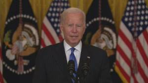 Biden announces biggest U.S. ports to operate 24/7 to address supply chain crisis (02:45)