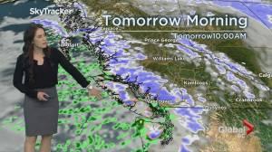 B.C. evening weather forecast: Jan 3