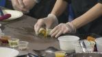 Ramen Misoya prepares mango rice rolls