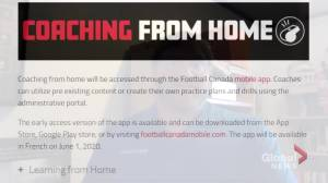 New Football Canada app promotes learning from home amid COVID-19 pandemic