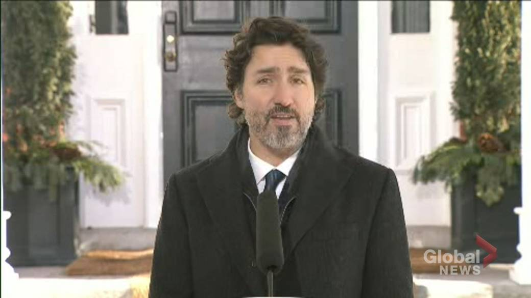 Click to play video 'Coronavirus: Vaccinations to' increase 'in February, says Trudeau'