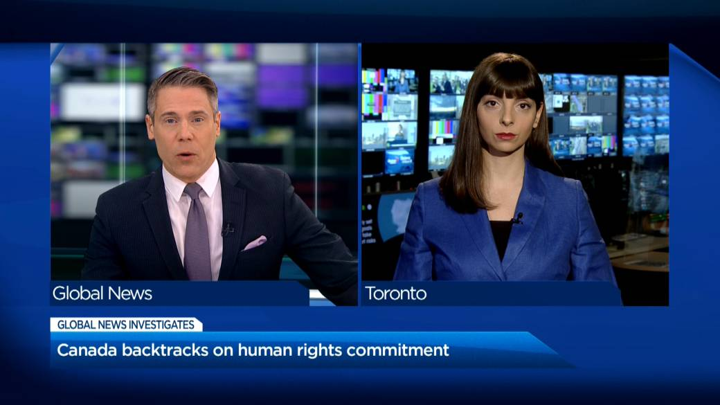 Click to play video 'Canada backtracks on human rights commitment'