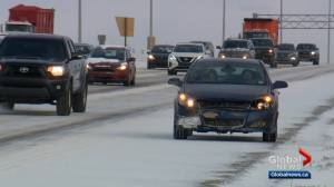 Calgary deals with slick Monday commute