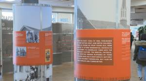 Lethbridge College hosts national exhibit in honour of Orange Shirt Day (01:36)