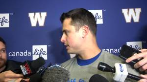 RAW: Blue Bombers Zach Collaros – Nov. 6