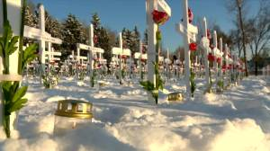 Learn more about the 2020 sunrise and sunset ceremonies at Field of Crosses (04:38)