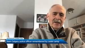 Vernon Army Cadet Camp remembers slain Calgary Police officer Sgt. Andrew Harnett (01:20)