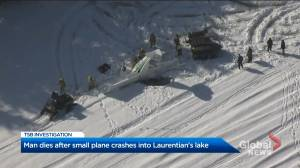 One dead after small plane crashes into lake in Laurentians: Sûreté du Québec (00:25)