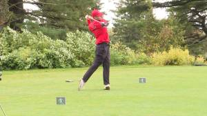 Thomas Code wins the Ontario College Golf championship tournament in Kingston