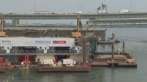 Work to dismantle old Champlain bridge gaining steam (01:30)