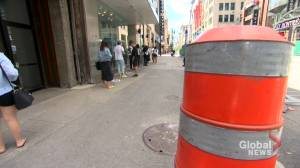 COVID-19: Montreal shoppers adjusting to a new normal on Sainte-Catherine Street