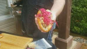 BBQ Tips: Beer Braised Bratwurst and Quick Pickled Cabbage
