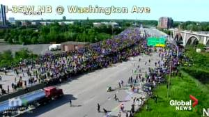 George Floyd protests: Tanker truck drives towards thousands of protesters at high rate of speed on bridge in Minneapolis