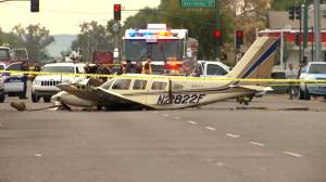 One person uninjured after small plane crash in Phoenix