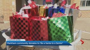 12 Days of Giving: 'Be a Santa to a Senior' program delivers gifts to Markhaven Home for Seniors (01:22)