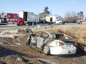 5 injured in fiery collision on Hwy. 7 near Peterborough