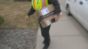 """It's certainly higher in the last year,"" Theft of parcels is on the rise as more people shop online and have packages delivered to their homes (02:28)"