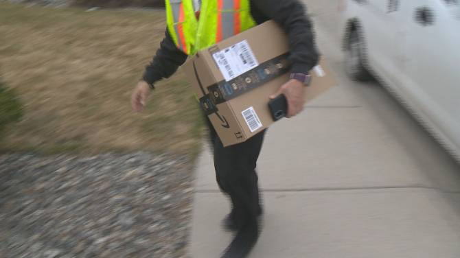 """Click to play video: """"It's certainly higher in the last year,"""" Theft of parcels is on the rise as more people shop online and have packages delivered to their homes"""