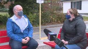 BC NDP leader John Horgan visits new child care site in Penticton (01:08)