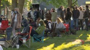 Long lineups continue at 2nd dose pop-ups as Ontario looks ahead of Step 2 of reopening (02:26)
