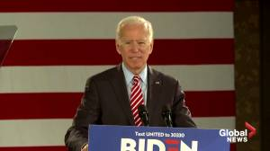 Biden takes swipe at Trump over Syria