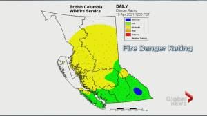 Well above average B.C. wildfire activity despite a low to moderate fire danger rating. Here's why. (01:47)
