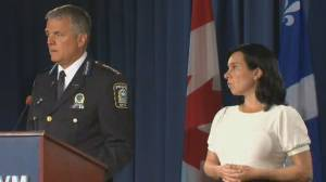Montreal Mayor Valérie Plante invests $5.5 million to boost police resources to fight gun crime (02:08)