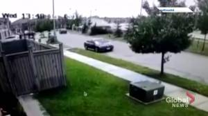 Videos show car crashing, flipping on Brampton street