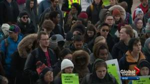 Students rally at Alberta legislature to protest post-secondary cuts