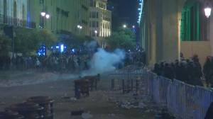 Lebanon police use tear gas against protesters demonstrating against security crackdown