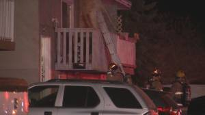 Man seriously injured after fire breaks out at southeast Calgary duplex (01:38)