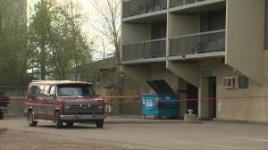 Edmonton police investigate suspicious death in city's core (00:58)