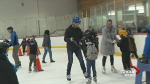 Henrik and Daniel Sedin surprise kids at Vancouver ice rink