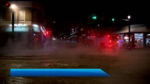 Water main break closes part of 17 Avenue (02:26)