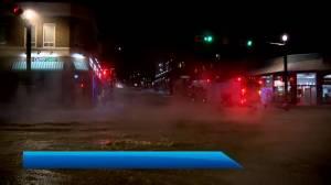 Water main break closes part of 17 Avenue (02:26)